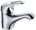Single Lever Basin Mixer Panam Cross W/Brass Pop-Up